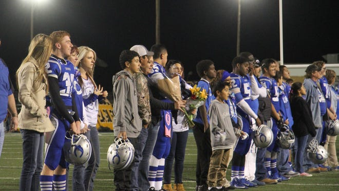Cavemen Seniors honored their parents Friday night prior to the game against Hobbs Eagles.