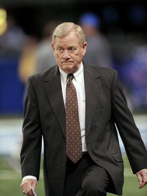 FILE - Former Indianapolis Colts Vice Chairman Bill Polian says he's disappointed that neither Tony Dungy nor Marvin Harrison was elected into the Hall of Fame this year.