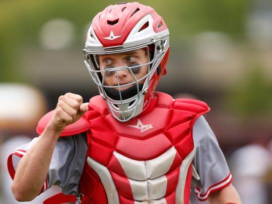 West Lafayette catcher Owen Walbaum