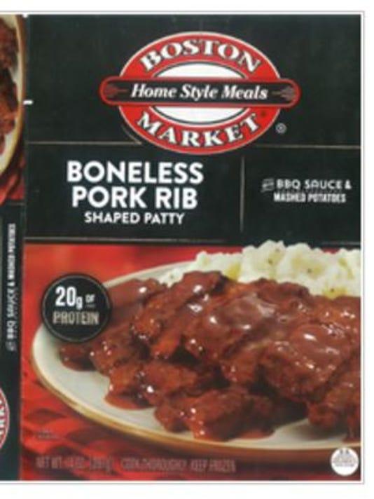 Boston Market Boneless Pork Rib Shaped Patty with Mashed Potatoes