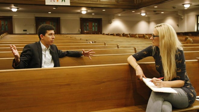 Sarah Ivens interviews The Rev. Jason Crosby while on assignment at Crescent Hill Baptist Church on Frankfort Ave. June 26, 2015