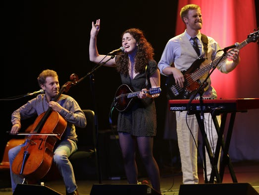 The Hillary Reynolds Band performs during the Women Shine concert Wednesday, August 6, 2014, at the Fox Cities Performing Arts Center in downtown Appleton, Wis. The concert is a prelude to the Mile of Music festival. Dan Powers/Post-Crescent Media