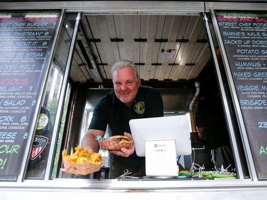 Shane Coffey, owner of Street Chef Brigade food truck,