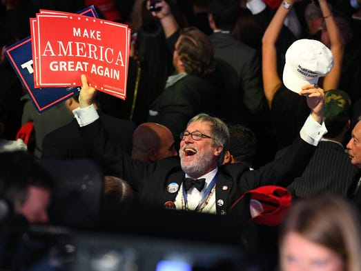Supporters of Republican Party candidate Donald Trump