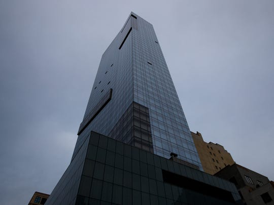A view of the Trump SoHo hotel condominium building,