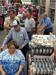 In this file photo, voters wait at the early voting poll at Home Depot in Wichita Falls. The store had the highest number of early voters out of six Wichita County locations.