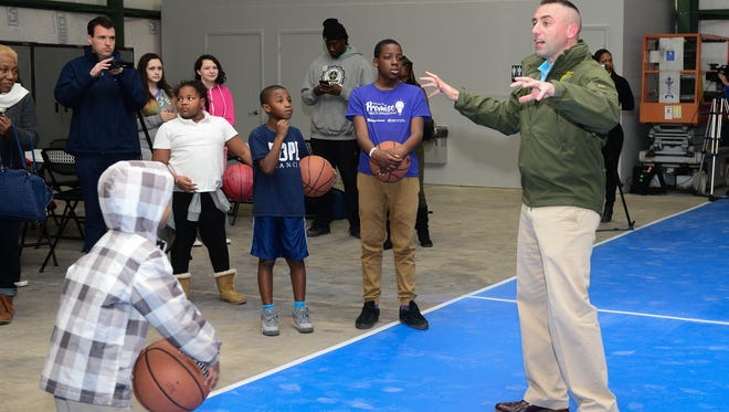 Salisbury Mayor Jake Day welcomes everyone during the opening of the Truitt Street Community Center on Monday, March 20, 2018. This location is the first of Salisbury's new community centers.