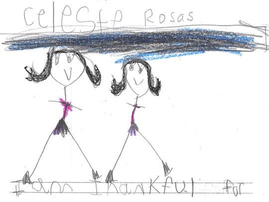 Celeste Rosas is thankful for her sister.
