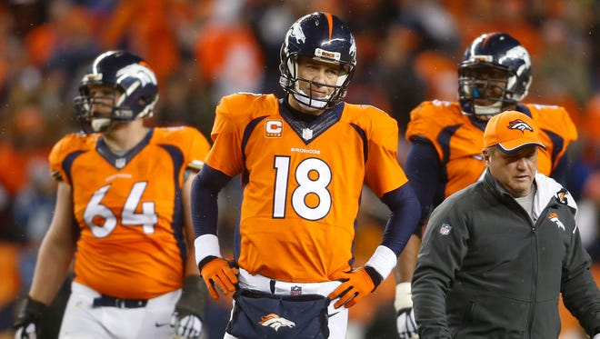 Broncos QB Peyton Manning is the NFL's only five-time MVP.