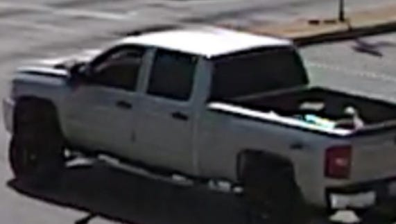"""This pickup truck is the suspected vehicle in an attempted child enticement incident in West Allis. The truck is described as a silver Chevrolet, possibly a 2008 model, with  a lift kit, 20"""" black and silver rims, no cap and a loud muffler."""