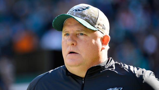 Head coach Chip Kelly of the Philadelphia Eagles.