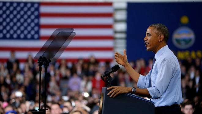 President Barack Obama speaks during a university visit Thursday, Jan. 22, 2015.