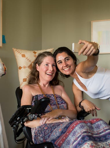 Betsy Davis takes a final selfie with a friend.