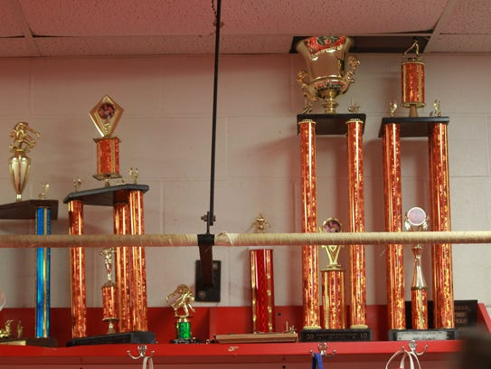 City High trophies break through the ceiling of the