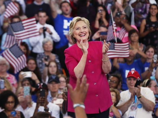 Hillary Clinton And Tim Kaine Hold Post-DNC Rally In Philadelphia
