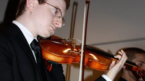 Tyler Clementi in the Ridgewood High School Orchestra..