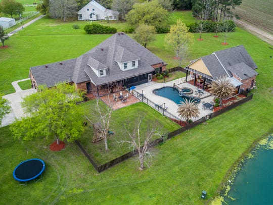 This beautiful estate is located on Duchamp Rd in Broussard.