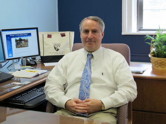 Douglas Adams, superintendent of the Ramapo Central School District, in his Hillburn office.