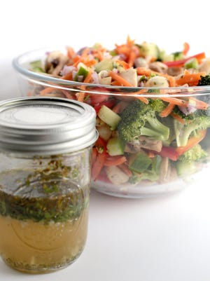 The Marinated Vegetable Salad recipe will help you increase your veggie content to daily recommendations.