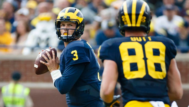 Wilton Speight and Michigan are the No. 2 team in the Big Ten, according to the former BCS computers.