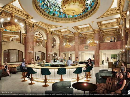 A rendering of the iconic dome bar, which is part of