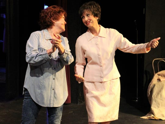 """Always...Patsy Cline"" tells the story of the friendship between Houston housewife Louise Segar (played by Louise Awalt, left) and Cline (Dedra Knox)."