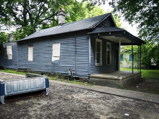 The shotgun house where singer Aretha Franklin was