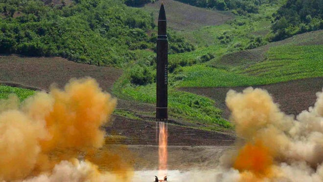 Launch of an intercontinental ballistic missile in North Korea on July 4, 2017.