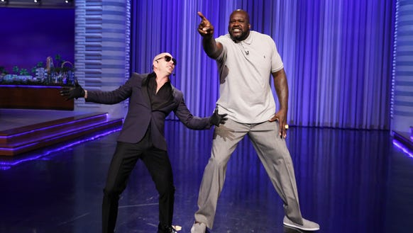 The answer: Shaq is really that tall — 7-foot-1, so