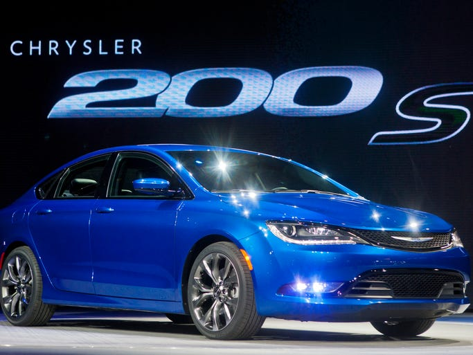 A symbol of the merged Fiat and Chrysler is the 2015 Chrysler 200, a midsize sedan for the U.S. based on a Fiat car platform, at its unveiling last week at the Detroit Auto Show.