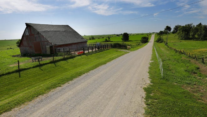 Average Iowa farmland values fell for the third year in a row in 2016 — the first since the 1980s farm crisis. Farmland values dropped nearly 6 percent to $7,183 an acre, according to an Iowa State University report.