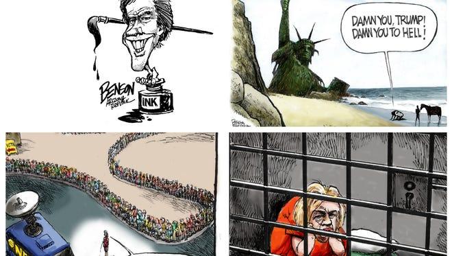 What was cartoonist Steve Benson's best work of 2016? Let's count it down: