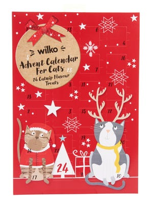 Wilko's Christmas Cat Treat Advent Calendar lets furry friends have some fun counting down to Christmas with 24 catnip treats, $2.60.