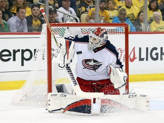 USP NHL: STANLEY CUP PLAYOFFS-COLUMBUS BLUE JACKET S HKN PIT CBJ USA PA