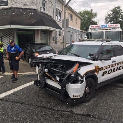 Gloucester Township police investigate a crash involving