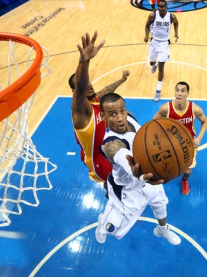 Monta Ellis is one of the best shooters in the NBA. Here he shot after slipping by his defender during a game in April on his way to a 31-point game.