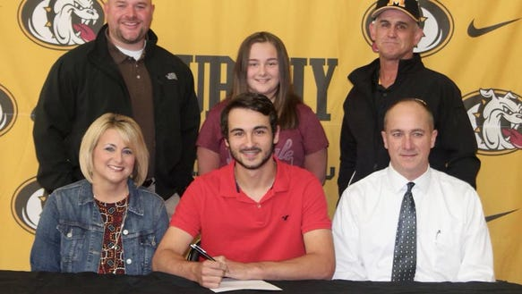 Murphy High School Senior third baseman Royce Peterson signed with Emmanuel College in Franklin Springs, Georgia.