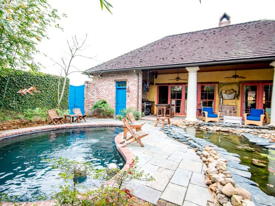 The private pool area offers a soothing retreat from