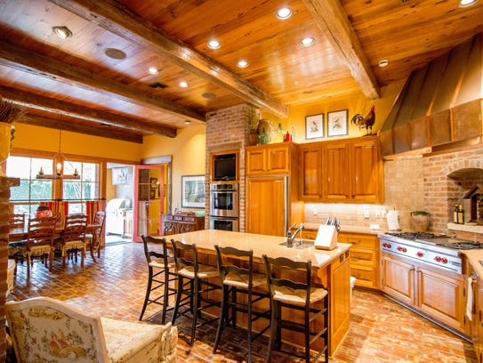 The gourmet kitchen is a chef's delight.