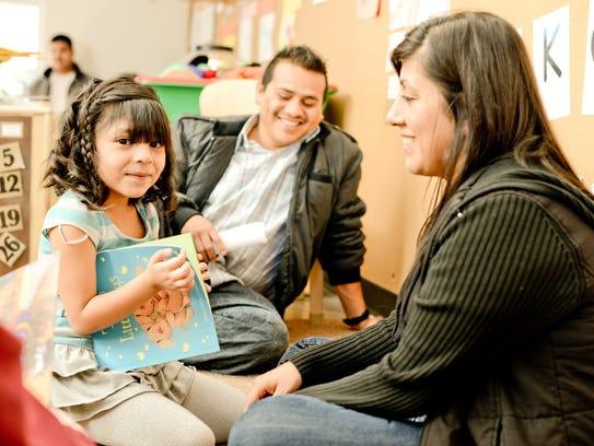 A family in Southwest Human Development's Head Start