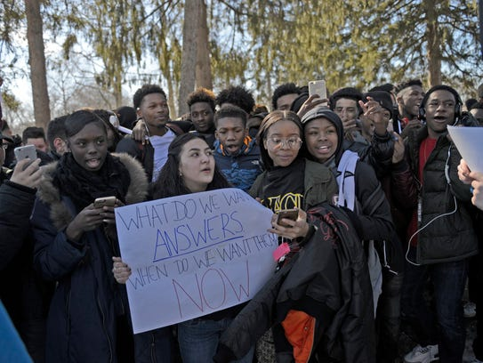 Students at Dwight Morrow High School walked out Friday.