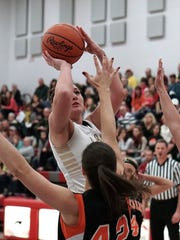 South Central's Desiree Kilgore goes up for a shot