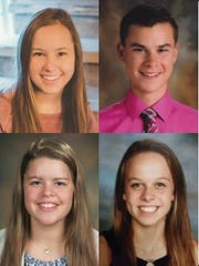 Four Wisconsin youth are among the semifinalists in the 96th Annual Holstein Association USA Young Distinguished Junior Member contest. They include (top left, clockwise) Eliza Endres, Waunakee; Matthew Gunst, Hartford; Samantha Pitterle, Watertown; and Hannah Hockerman, Westfield.