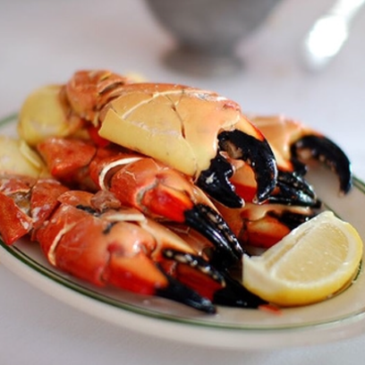 Stone crab is one of the many offerings at Jack's Seafood