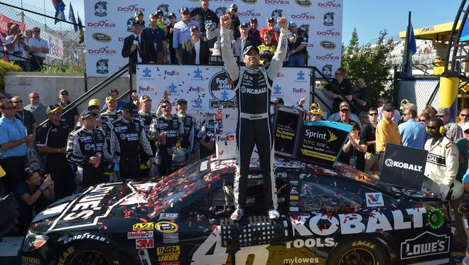 Jimmie Johnson has won two races in a row and secured a record ninth Cup win at Dover.