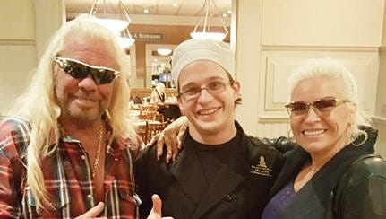 "Duane ""Dog"" Chapman, of ""Dog the Bounty Hunter"" fame, visited Miller's Smorgasbord in Lancaster on Monday."