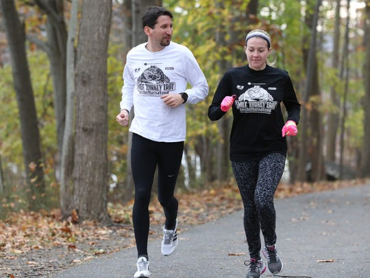 Jonathan and Kristen Farrell, are volunteers and participants