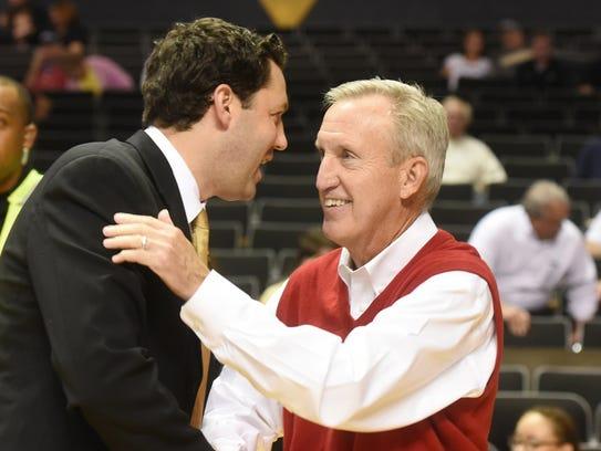 Vanderbilt second-year coach Bryce Drew, left, and