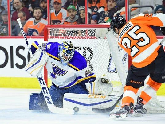 USP NHL: ST. LOUIS BLUES AT PHILADELPHIA FLYERS S HKN USA PA