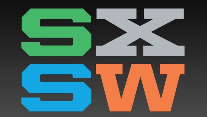Logo for South by Southwest, the Austin, Texas, a set of annual festivals that celebrate film, interactive media, and music.